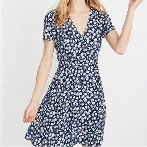 Madewell French Floral Button Wrap Dress